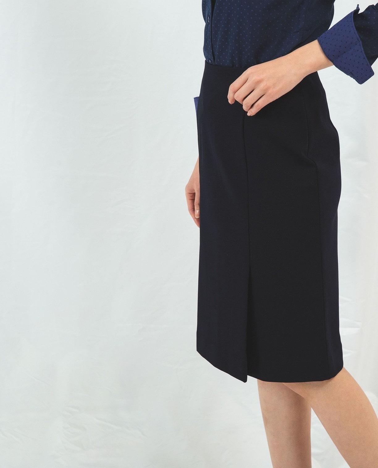 《セットアップスーツ対応》ポンチタイトスカート