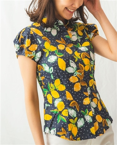 イタリアンレモンキャップスリーブ半袖シャツ