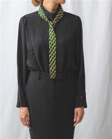 トゥッカーノ柄タイ付長袖シャツ