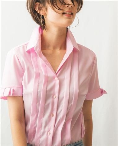 タックデザイン半袖シャツ