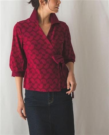 イタリアンジャージ衿付カシュクールシャツ