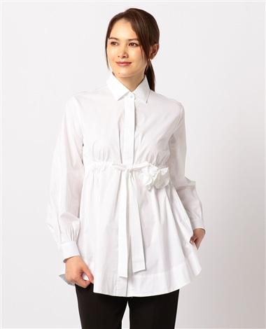 ウエストリボン長袖シャツ