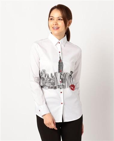 メトロポールプリント長袖シャツ