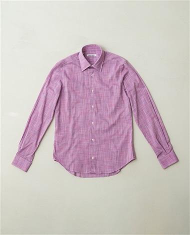 コットンメランジ長袖シャツ