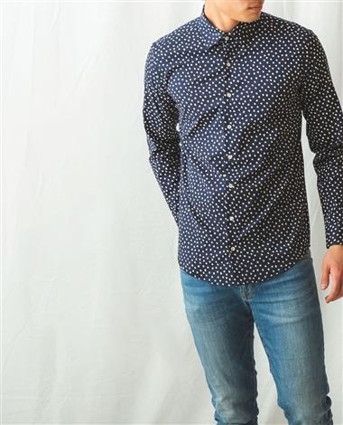 ミニドット長袖シャツ