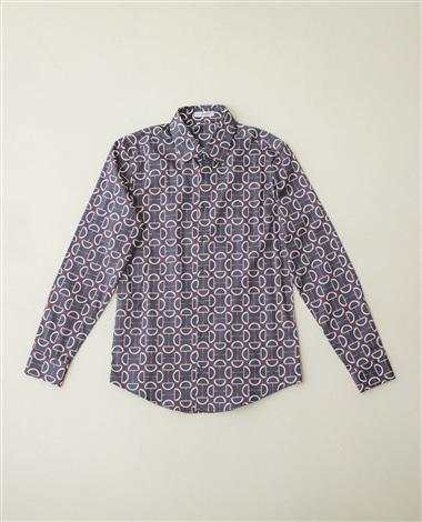 ビットプリント長袖シャツ