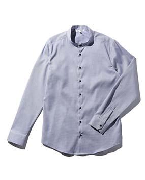 【MEN'S】バンドカラー長袖シャツ