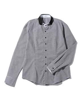 【Men's】スモールカラー長袖シャツ