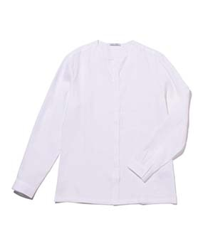 【MEN'S】比翼仕立て麻長袖シャツ