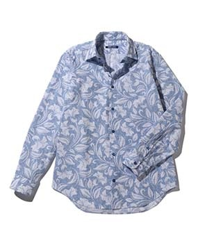 【MEN'S】フラワープリント長袖シャツ