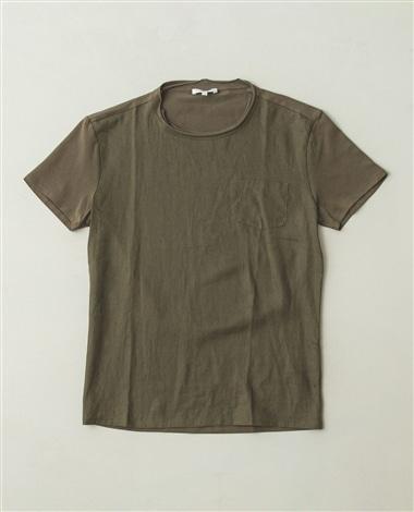 麻切替半袖Tシャツ