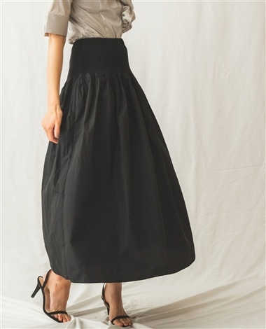 タフタ変形ギャザースカート