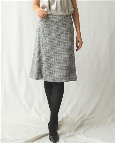 《セットアップスーツ対応》ツィードソフトフレアースカート