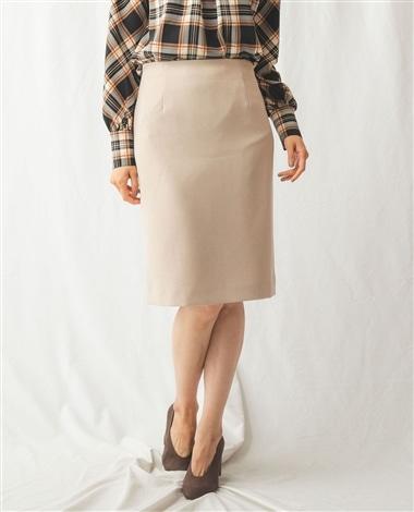 【セットアップスーツ対応】ダブルベンツタイトスカート