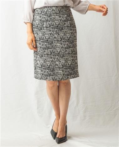 ウォール風モノクロプリントスカート