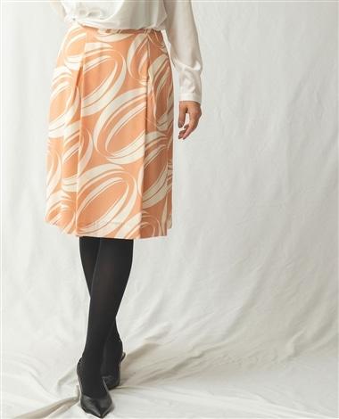 《セットアップ対応》オーバルラインプリントスカート